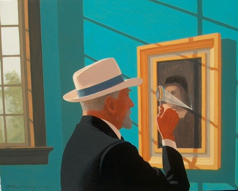 """Bernard Berenson at the Villa Borghese"", 24 x 30"", oil on panel, 2008"