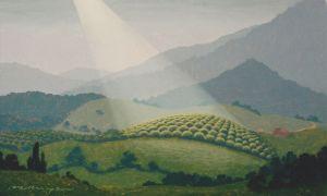 """""""Orchard Light"""", 10.5 x 17"""", oil on panel, 2010"""
