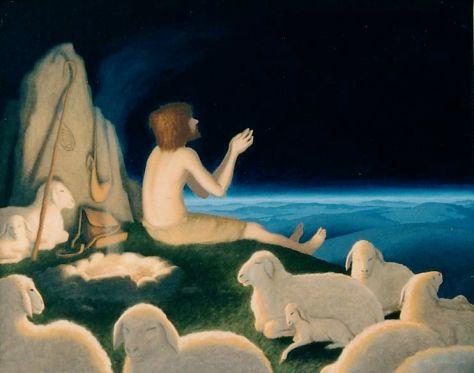 """ St. Patrick When a Slave Shepherd"", oil on canvas, 24 x 30"", 2003"