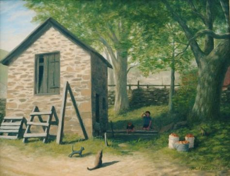 """Lee's Springhouse"", oil on canvas, 22 x 28"" 2003"
