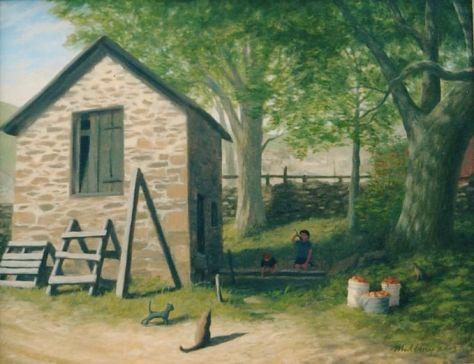 """Lee's Springhouse"", oil on canvas, 22 x 28"" 2003"