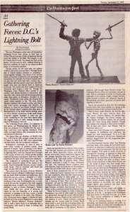 "Washington Post, ""Gathering Forces: D.C.'s Lightening Bolt"", by Paul Richard, September 1988"