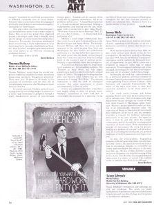 "New Art Examiner, Washington DC, ""Thomas Mullany"", by Patrick Frank, May 1987, pg 54"