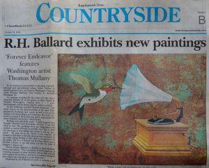 "Rappahannock News, "" R. H. Ballard exhibits new paintings, Forever Endeavor"", Oct 2006"