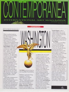 "Contemporanea, ""Washington"", Sept/Oct, 1988"