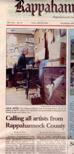 "Rappahannock News, "" Art Tour"", April 2005"