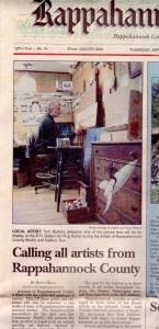"""Rappahannock News, """" Art Tour"""", April 2005"""