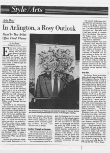 "Washington Post, ""Arts Beat: In Arlington, A Rosy Outlook"" by Eric Brace, 1996"