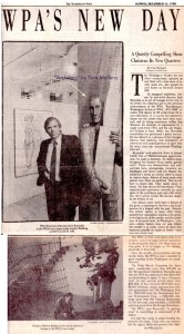 "Washington Post, "" WPA's New Day"" by Paul Richard, Dec/1988"